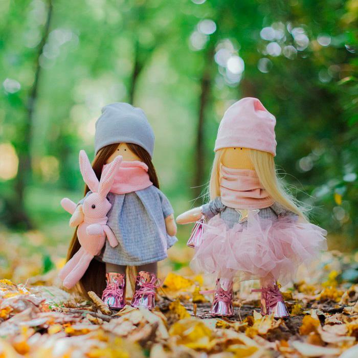 4716788 Интерьерные куклы 'Подружки Вики и Ники- на праздник' набор для шитья,15,6 * 22.4 * 5.2 см