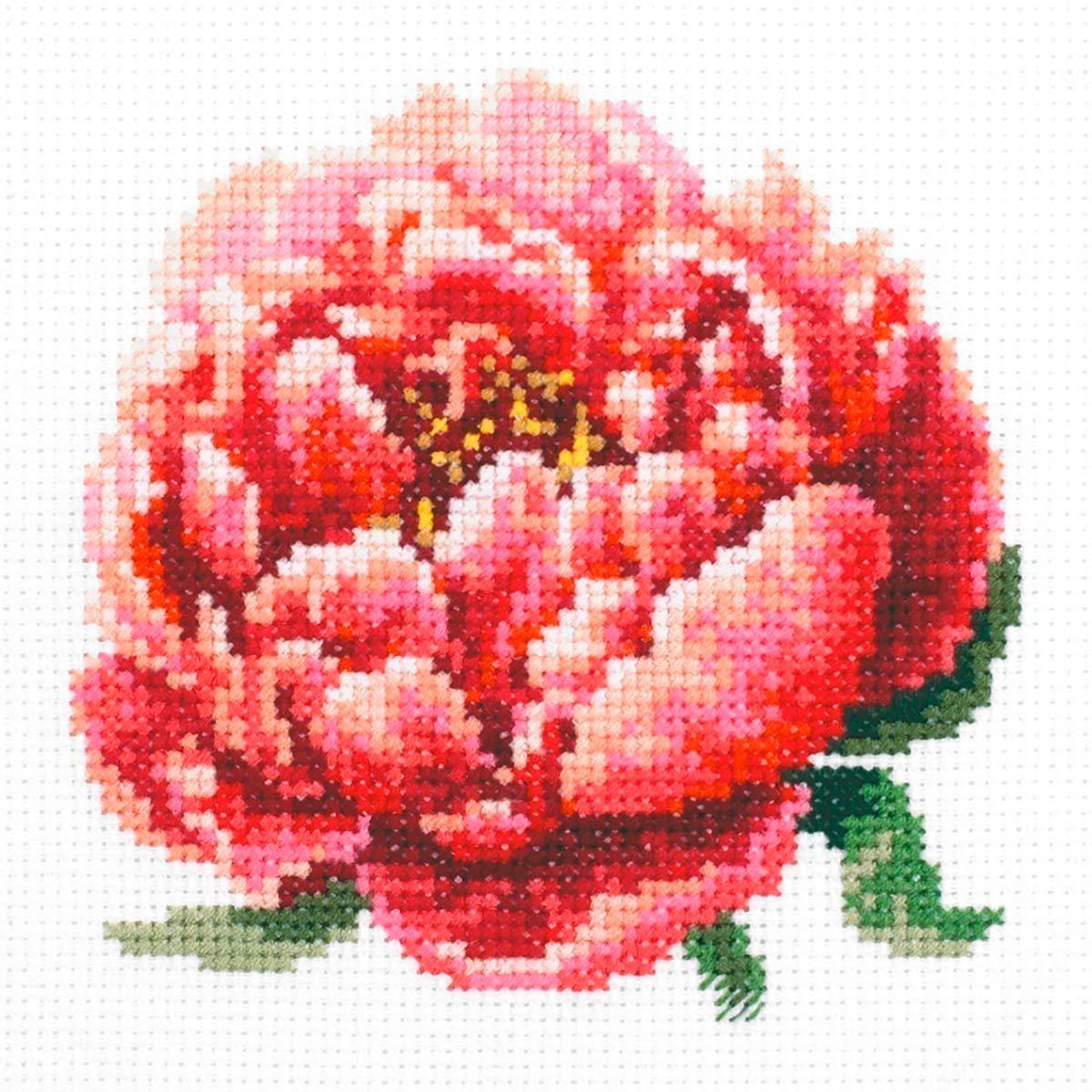 150-009 Набор для вышивания Чудесная игла 'Красный пион'