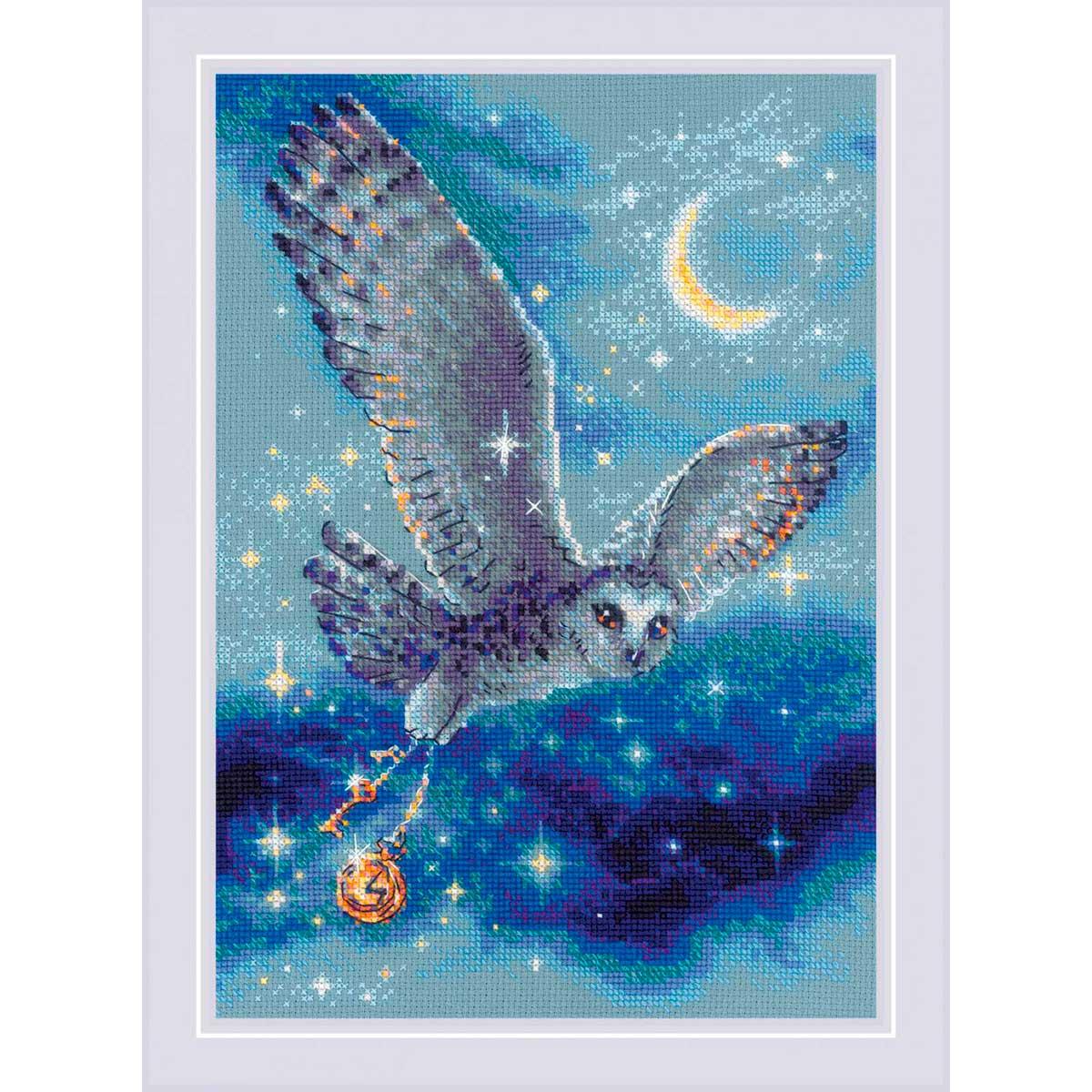 1872 Набор для вышивания Риолис 'Волшебная сова' 21*30см