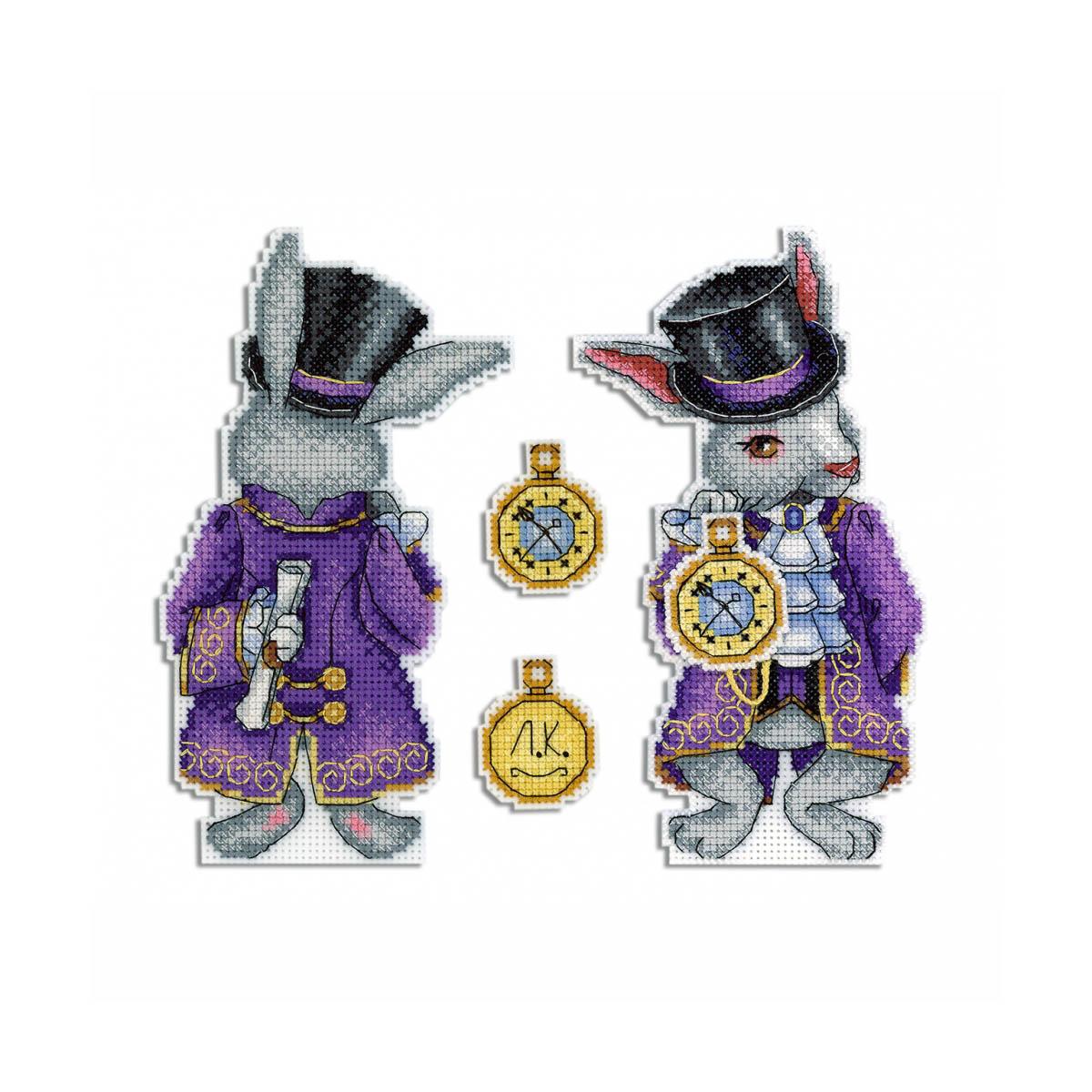 Набор для вышивания на пластиковой канве 'Чудесный кролик' с органайзером для ниток, МП Студия