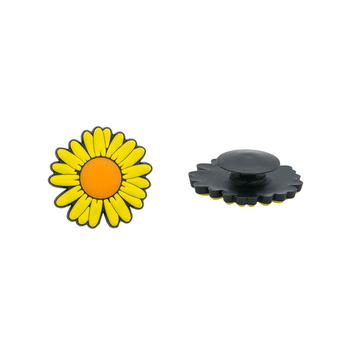 Украшение для обуви и сумок «Ромашка» (желтый)