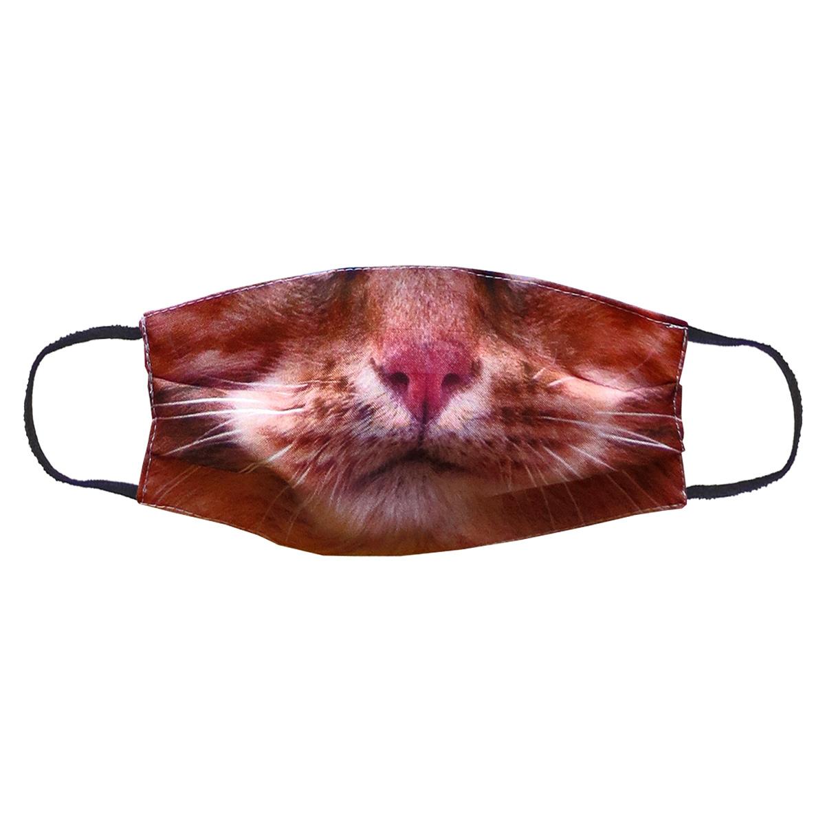 Повязка (маска) принтованная от пыли 'Кот рыжий'