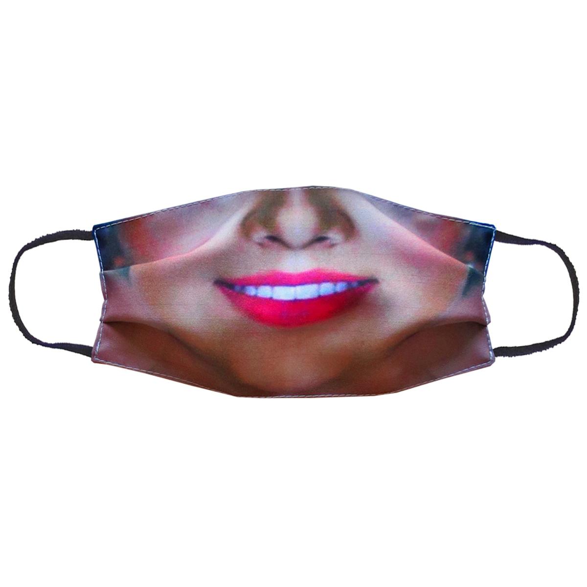 Повязка (маска) принтованная от пыли 'Губы улыбка'