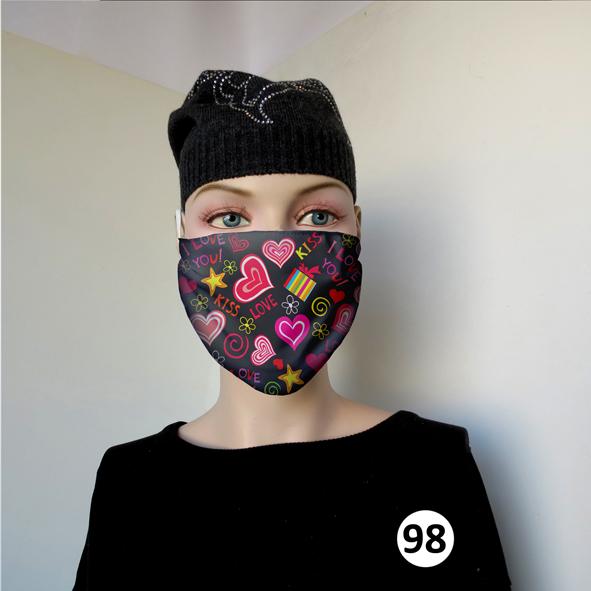 Повязка (маска) принтованная от пыли 'Love 98'