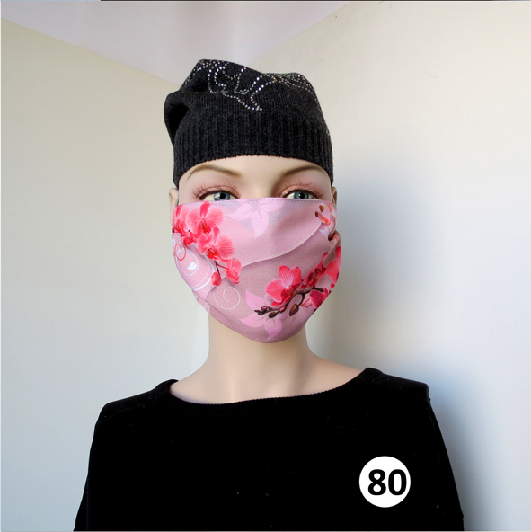 Повязка (маска) принтованная от пыли 'Орхидея 80'
