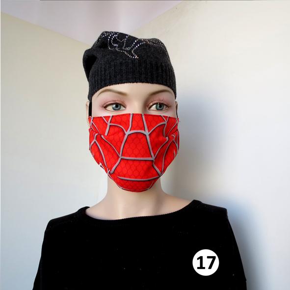 Повязка (маска) принтованная от пыли 'Паутина 17'