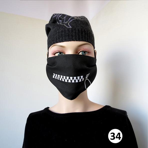 Повязка (маска) принтованная от пыли 'Зиппер 34'