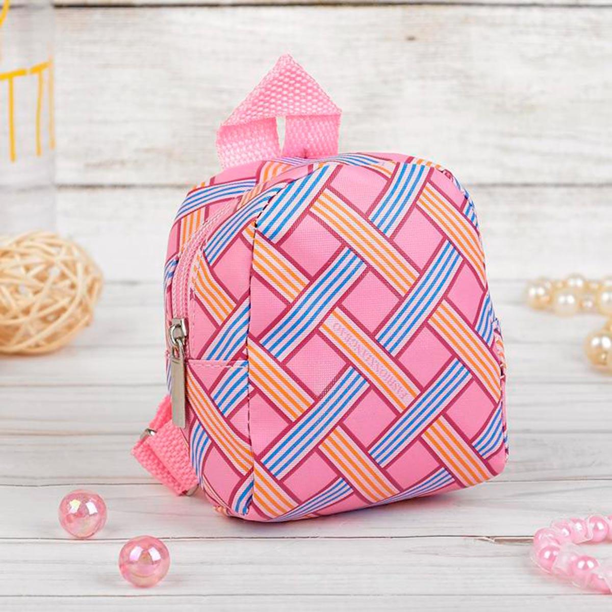 4259010 Рюкзак для куклы 'Орнамент', цвет розовый