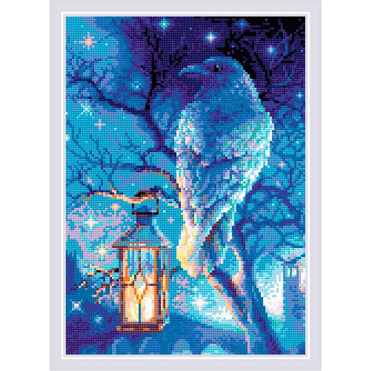 AM0043 Набор алмазной мозаики Риолис «Мудрый ворон» 27*38см