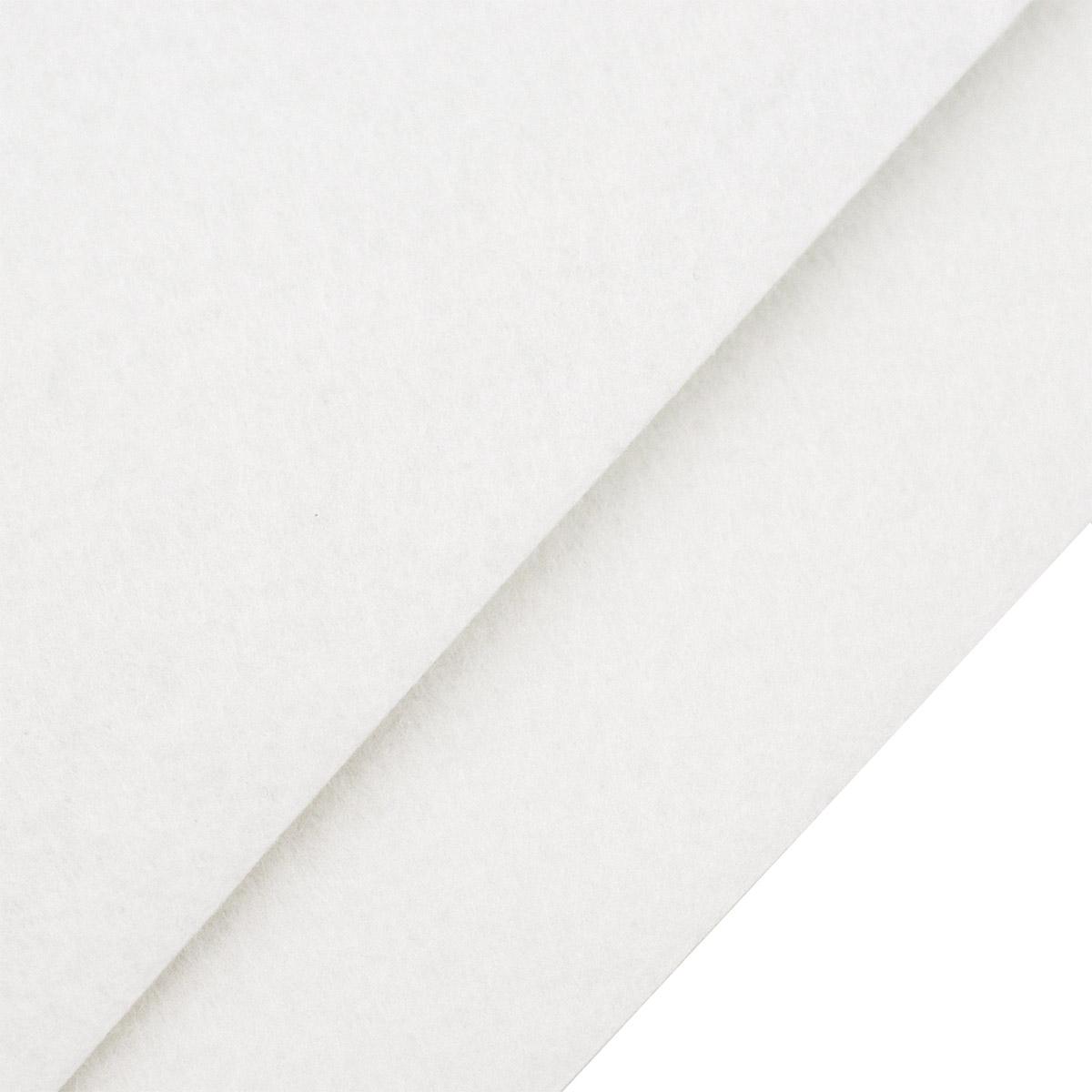 26957 Фетр жёсткий 1,0мм, 20*30 см, 100 % п/э, уп/2шт, белый