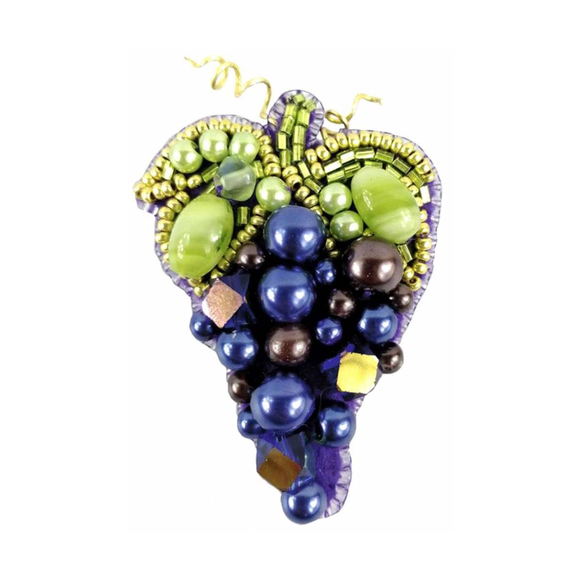 БП255 Набор для изготовления броши 'Виноград' брошь 4,5*6,5см.