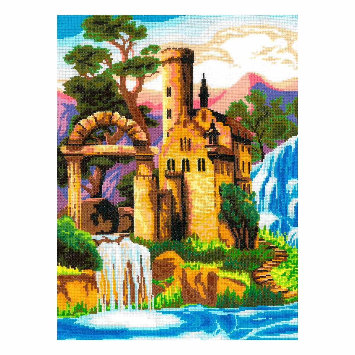 0279 Набор для вышивания 'Замок у водопада' 30х40см