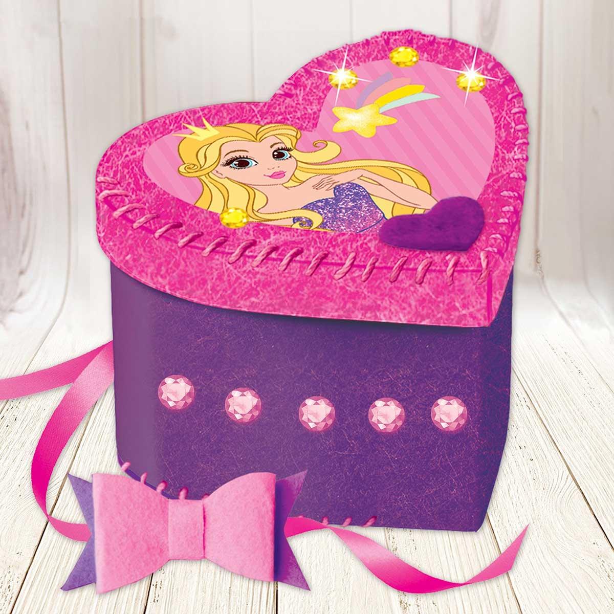 3619405 Шкатулка из фетра, набор для создания 'Принцесса'