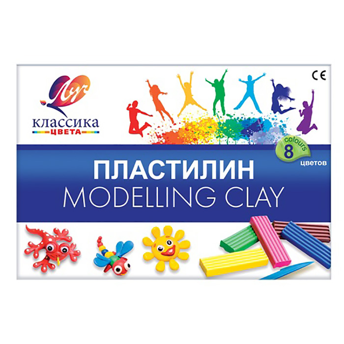12С 867-08 Пластилин 'Классика' 8 цветов