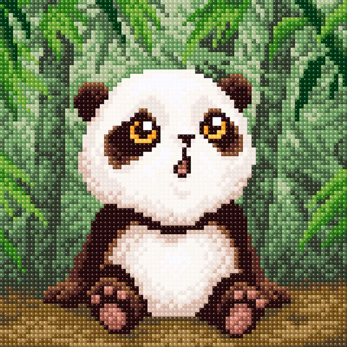 МС 001 Алмазная мозаика 'Малыш панда'20*20см Brilliart