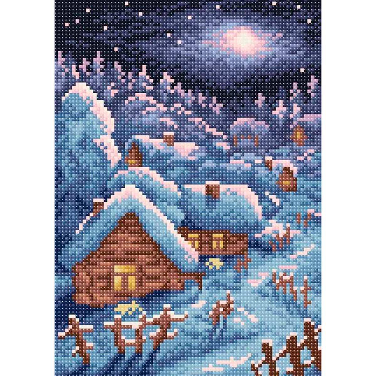 МС 005 Алмазная мозаика 'Зимний пейзаж'19*27см Brilliart