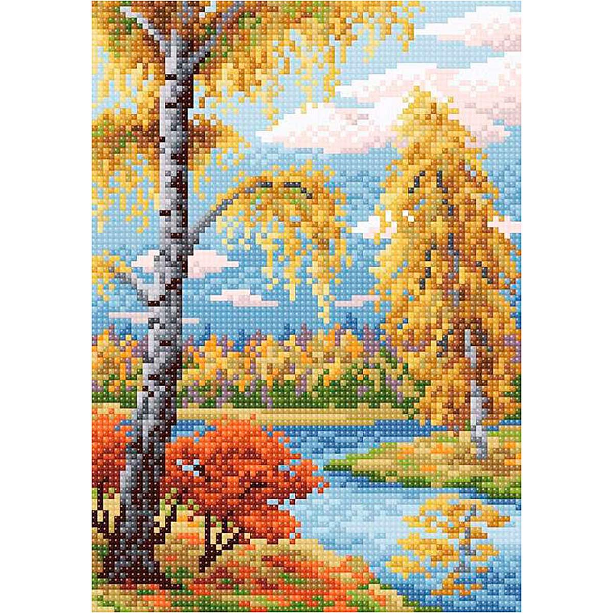 МС 010 Алмазная мозаика 'Осенний пейзаж'19*27см Brilliart