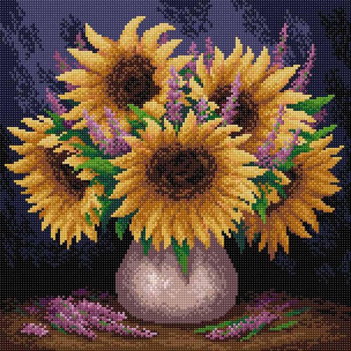 МС 014 Алмазная мозаика 'Подсолнечное настроение'38*38см Brilliart