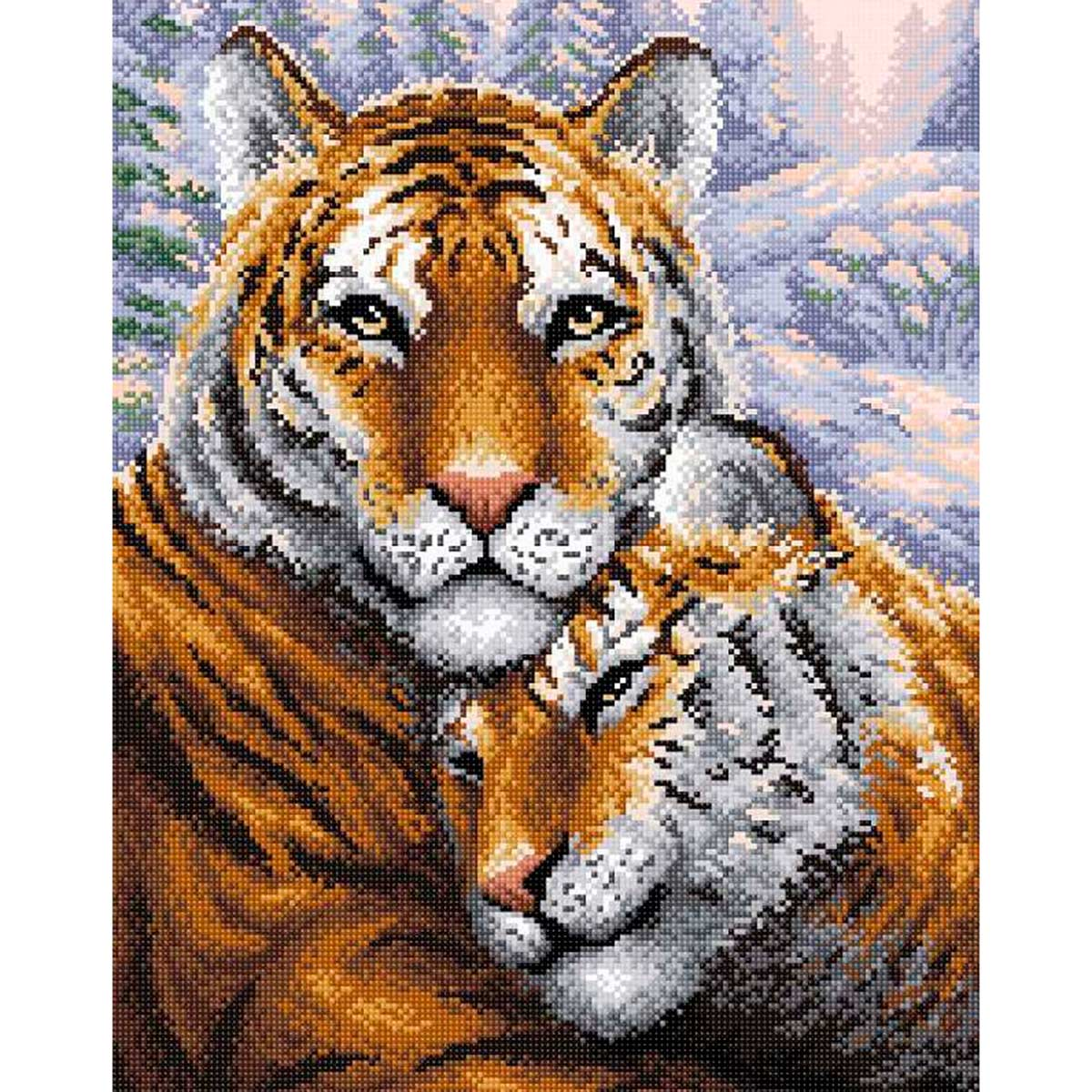 МС 020 Алмазная мозаика 'Тигры'38*48см Brilliart