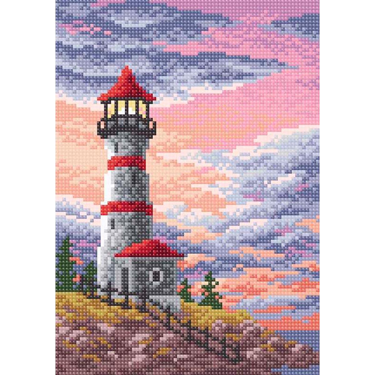 МС 021 Алмазная мозаика 'Маяк'19*27см Brilliart