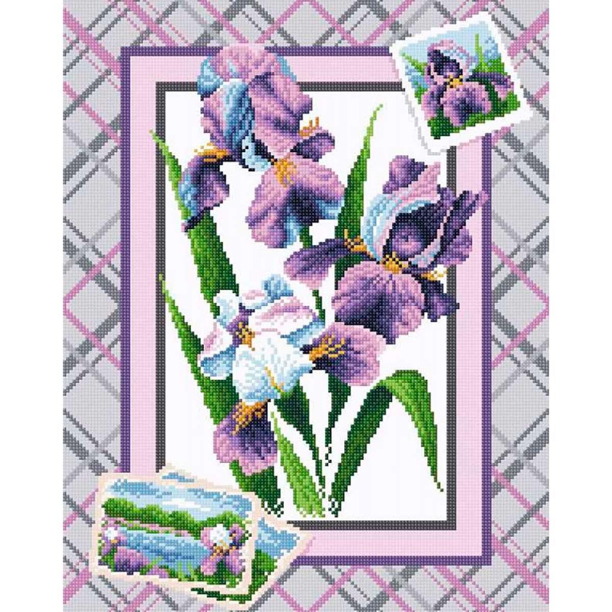 МС 040 Алмазная мозаика 'Букет ирисов'38*48см Brilliart
