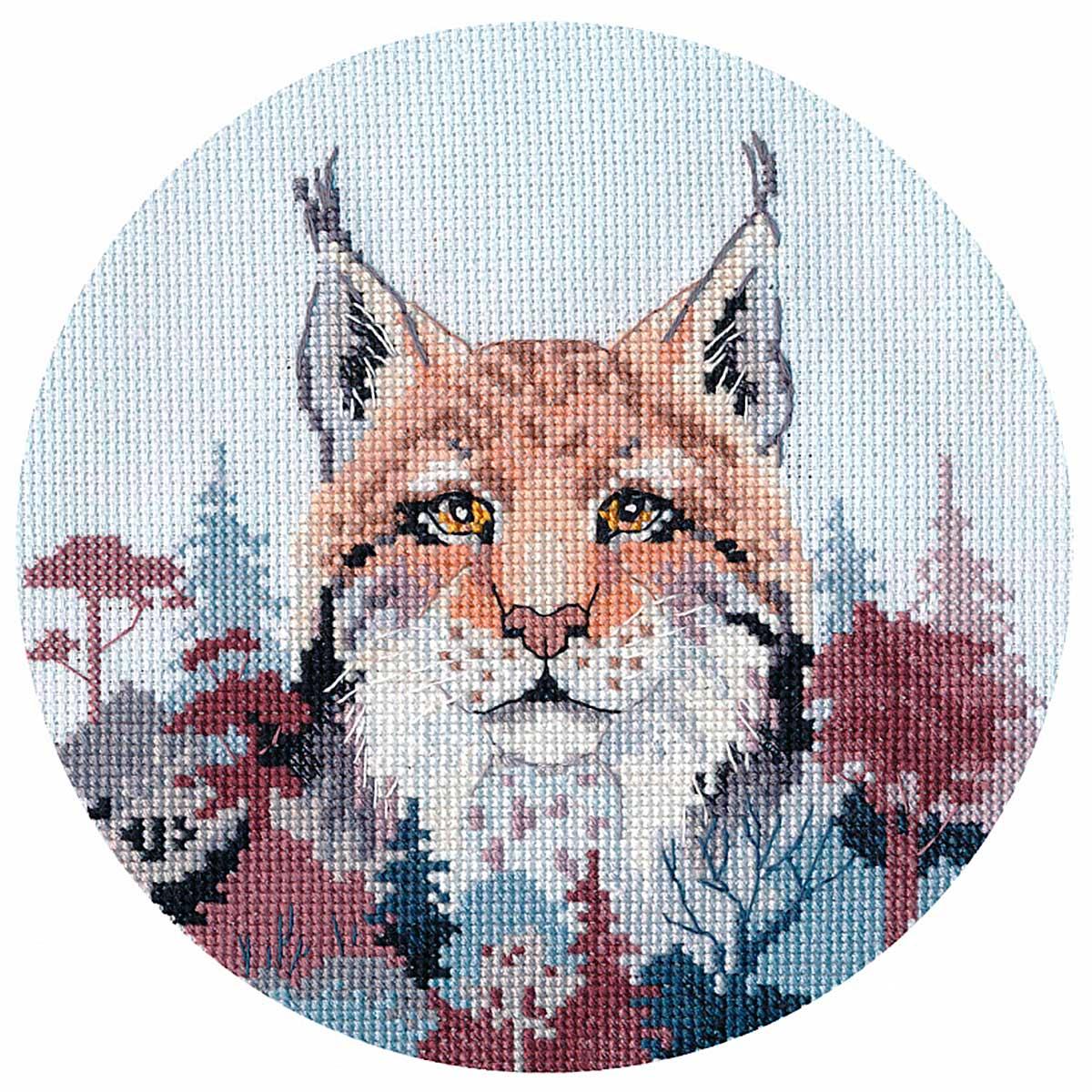 1302 Набор для вышивания ОВЕН 'Миниатюра. Рысь.'15×14см