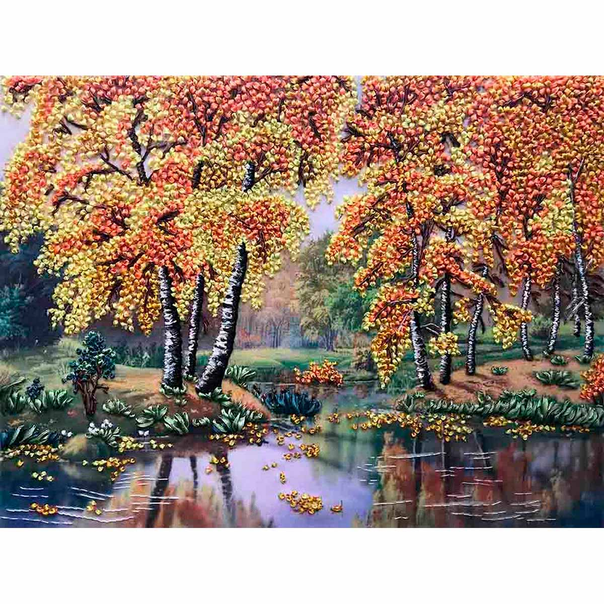 МЛ(н) 3014 Набор для вышивания лентами 'Осень'