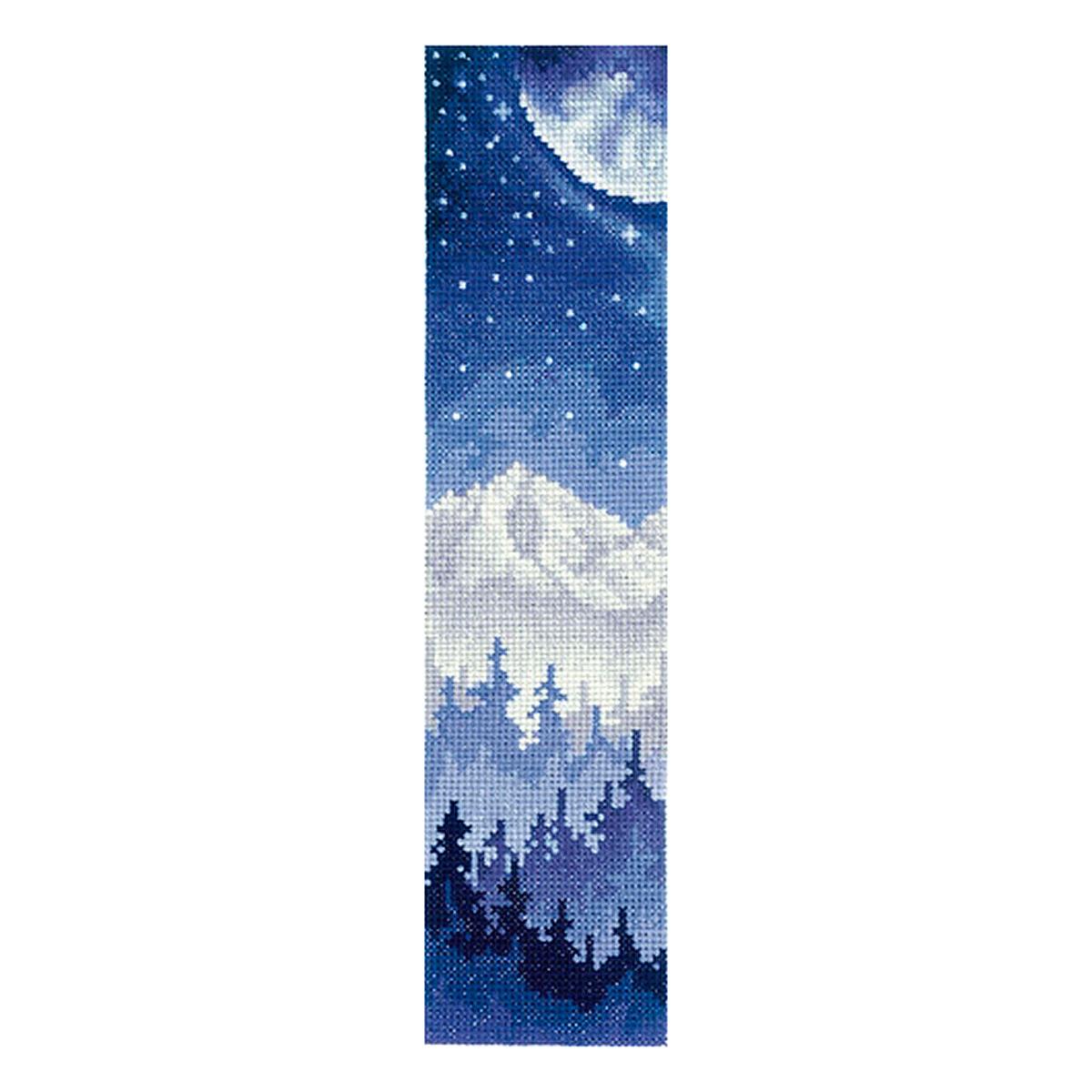 З-48 Набор для вышивания 'Закладки. Луна над лесом'5,5 х 22см