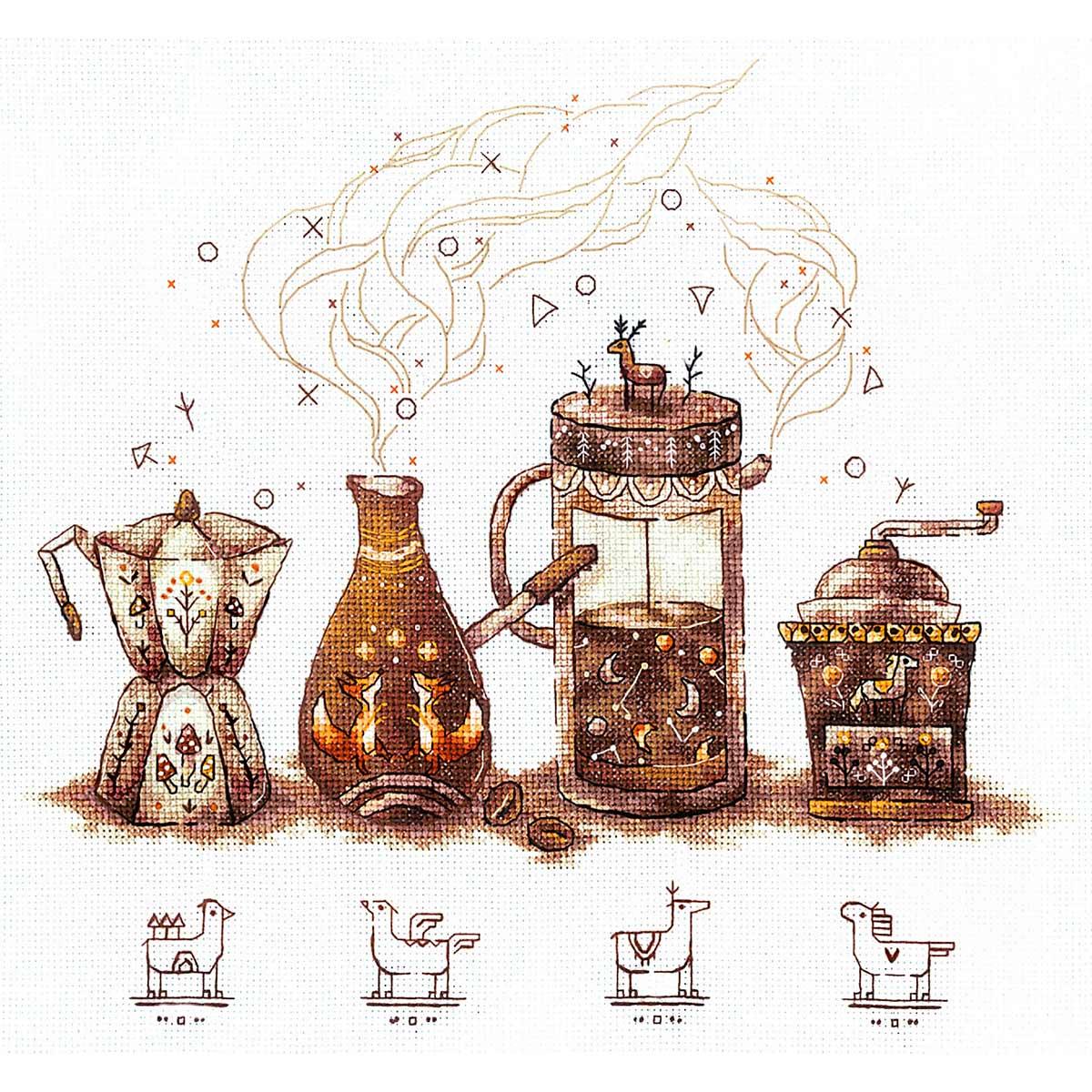 Ц-09 Набор для вышивания 'Ценители кофе'27 х 25 см