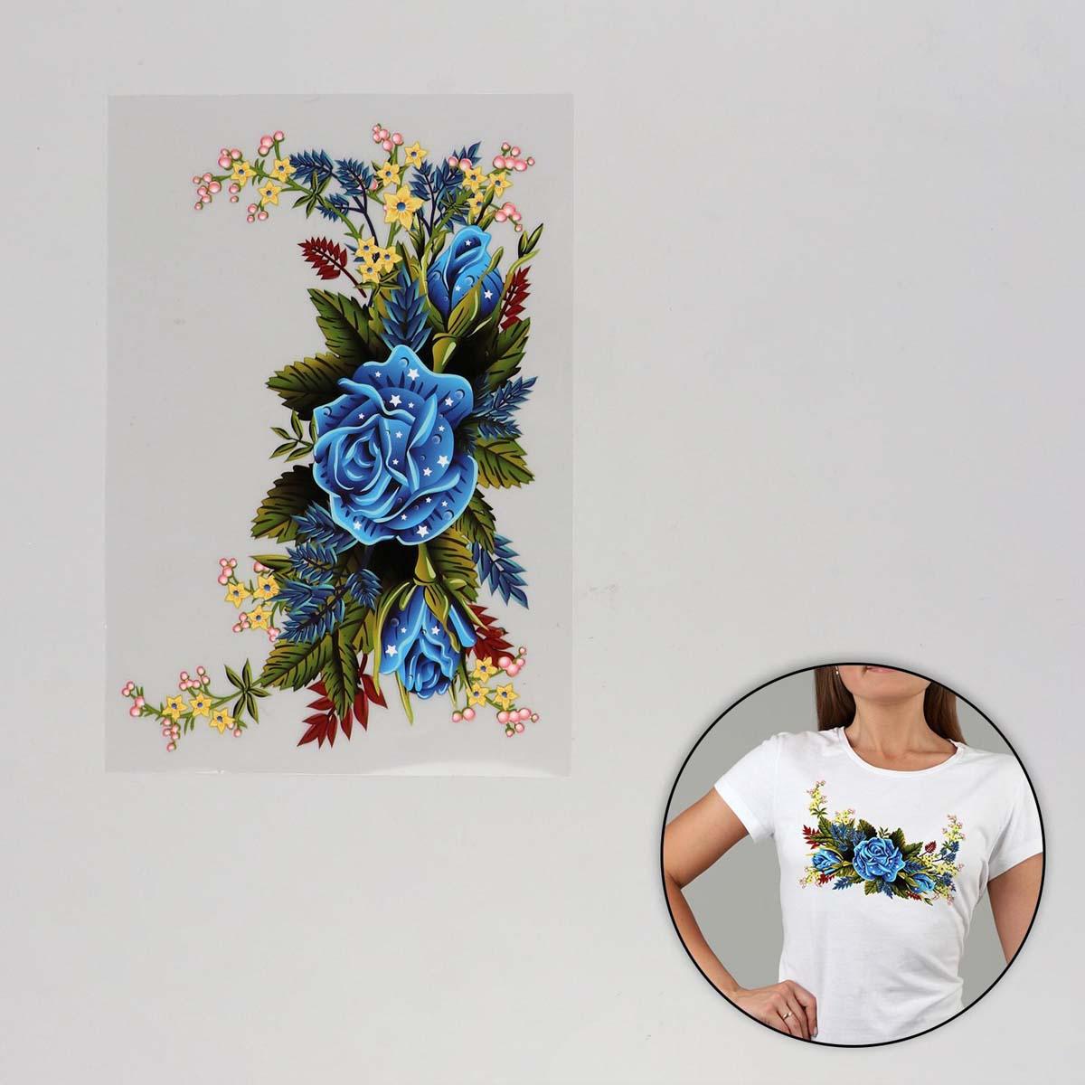 2663391 Термотрансфер цветы 13*20см, упак/5шт