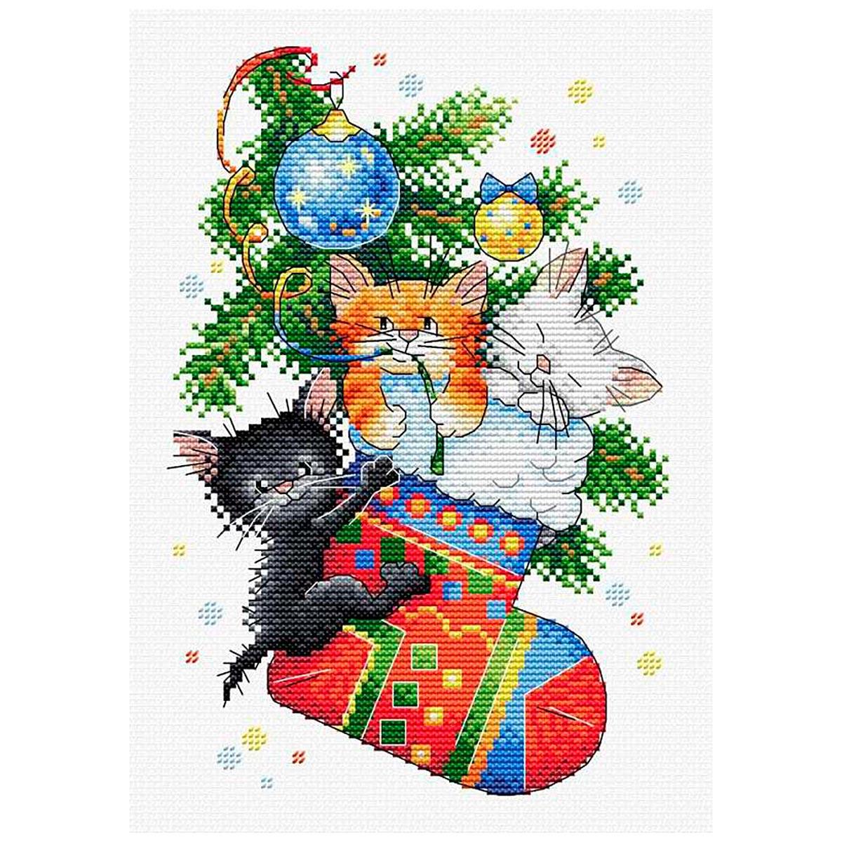М-563 Набор для вышивания МП Студия 'Новогодний подарок'23*16см