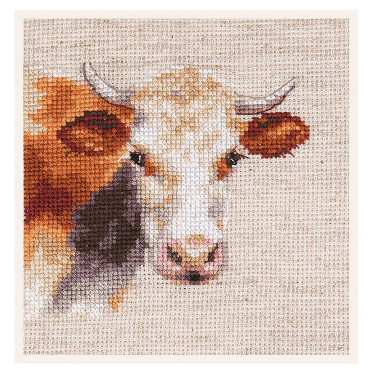 0-213 Набор для вышивания АЛИСА 'Корова' 10*9см