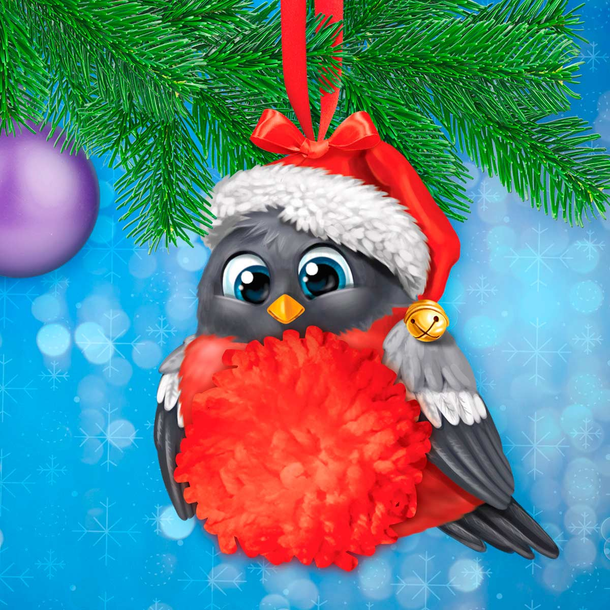 3520123 Набор для создания игрушки 'Снегирь'