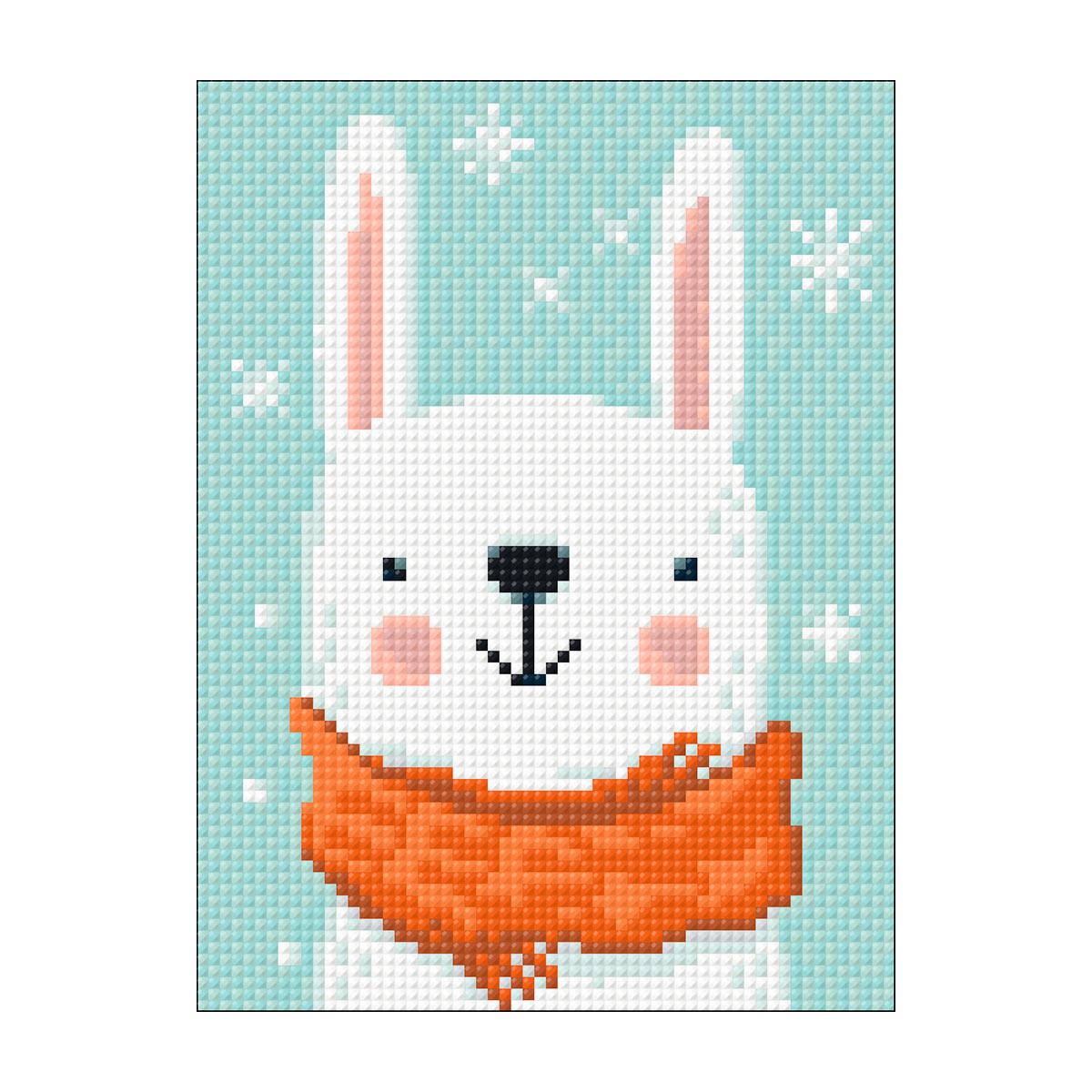 Ag 2532 Набор д/изготовления картин со стразами 'Снежный зайчик' 15*20см Гранни