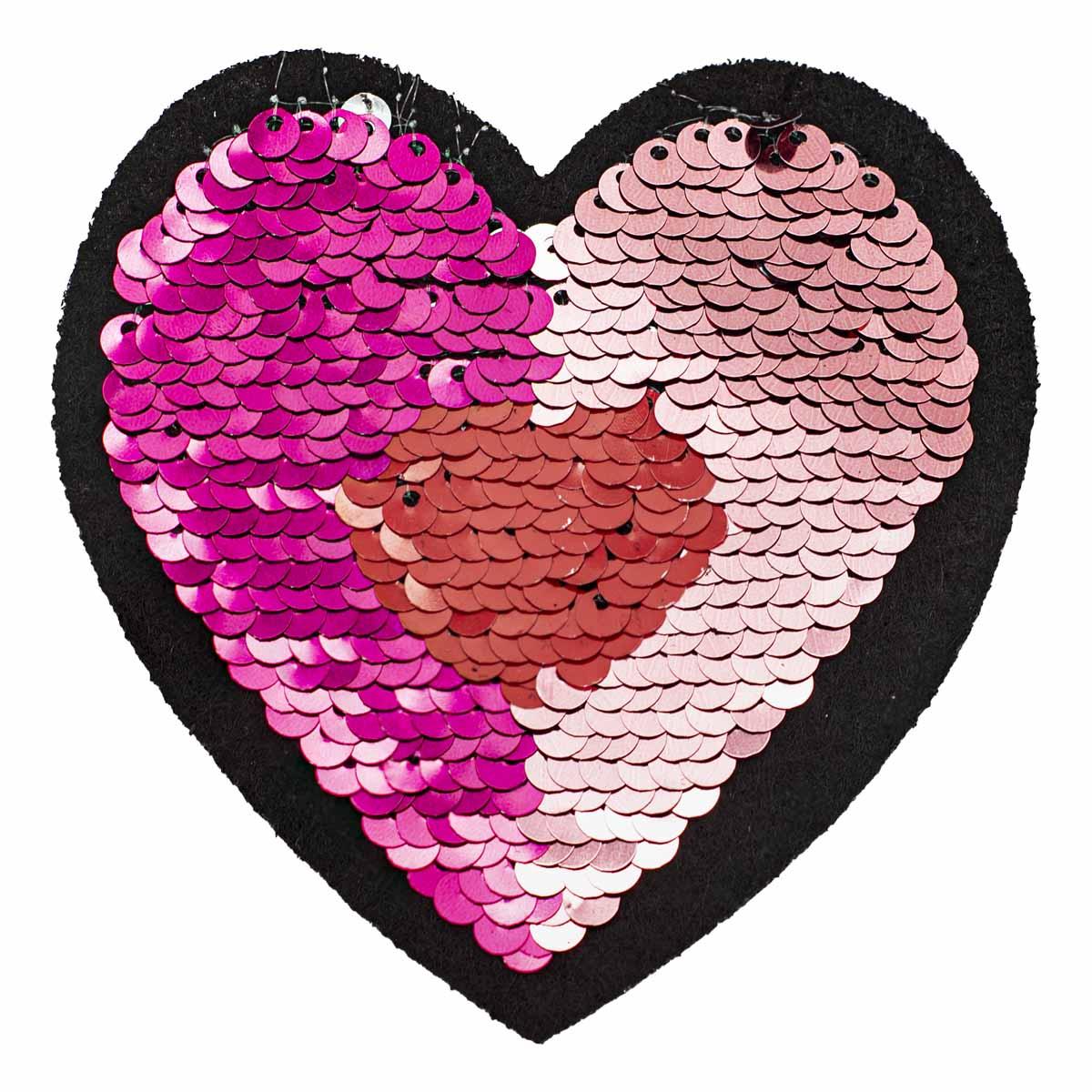 С3304-05 НАКЛЕЙКИ пайетки-перевёртыши 'Сердце'.