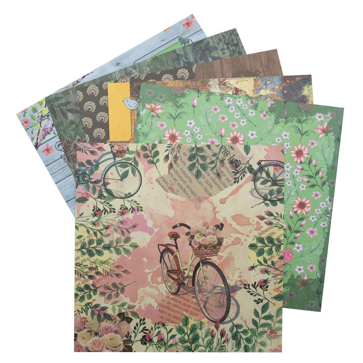 С2782-04 Цветная бумага для скрапбукинга. 12л. 30x30 'Природа'.