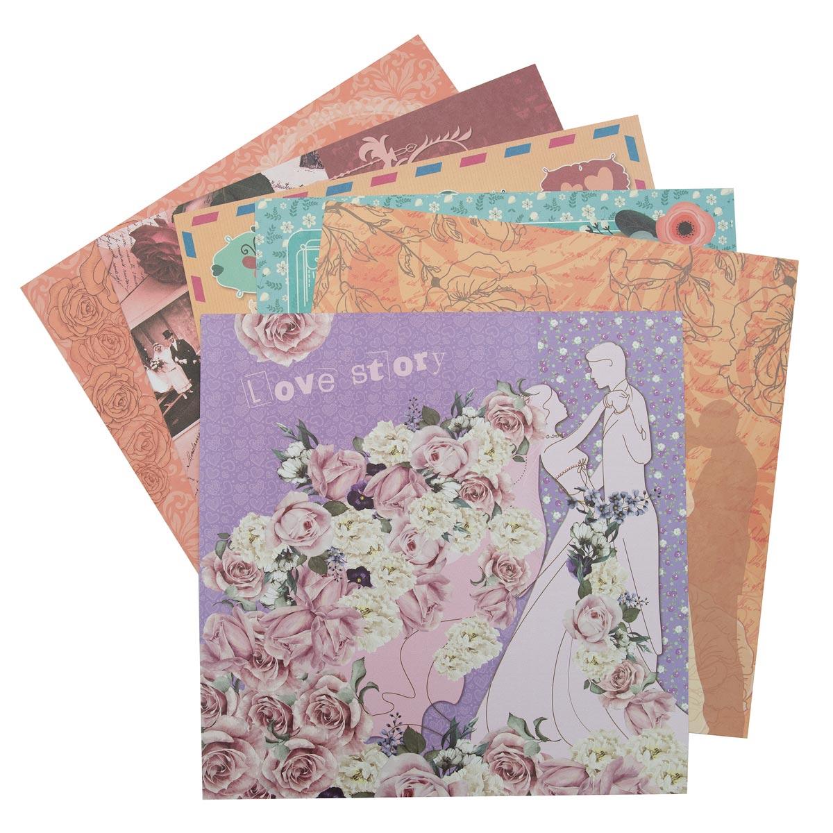 С2782-06 Цветная бумага для скрапбукинга. 12л. 30x30 'Свадебная фантазия'