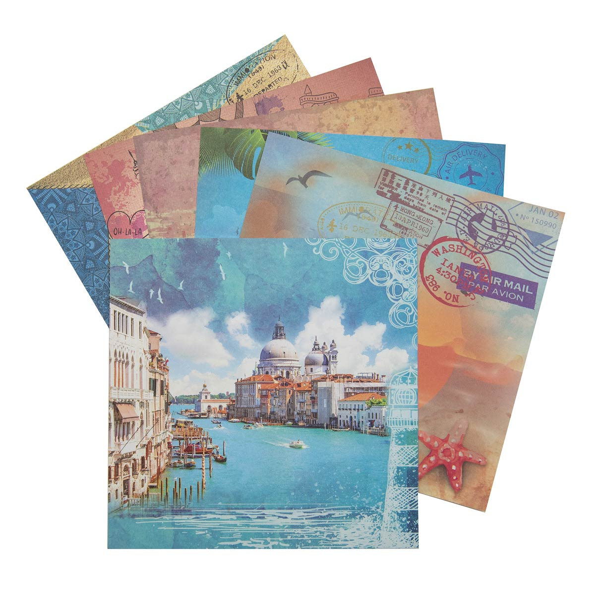С2781-05 Цветная бумага для скрапбукинга. 6л. 15x15 'Отпуск'.