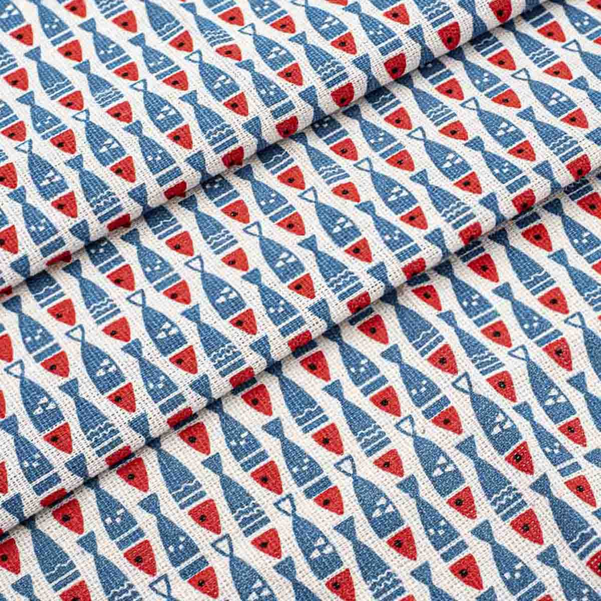 28498 Ткань 'ДЕКОР-10/09' с принтом, 50*50см +/-2см (50%лен,50%хлопок)
