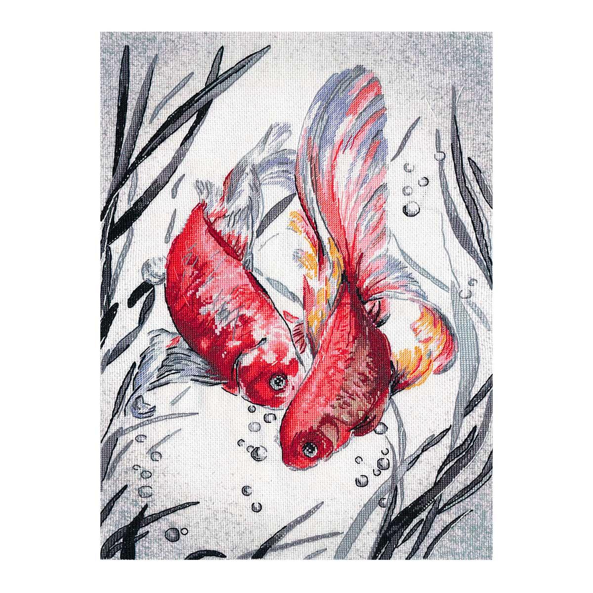 РК-018 Набор для вышивания ОВЕН 'Золотые рыбки'27×39 см