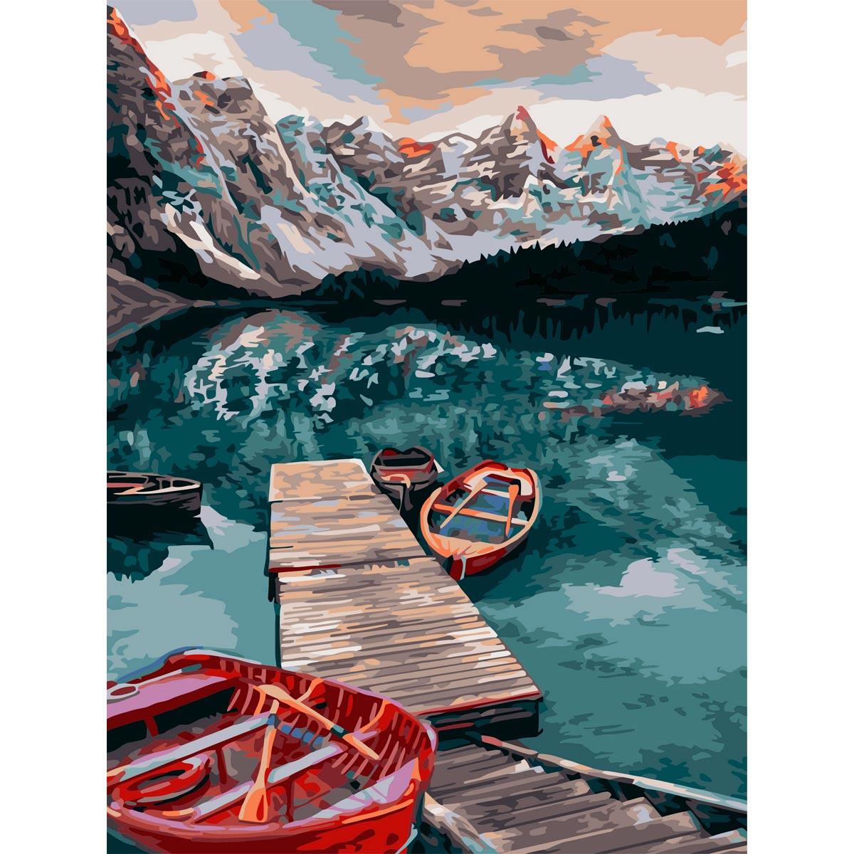 A135 Набор для рисования по номерам 'Тихое озеро' 40*50см