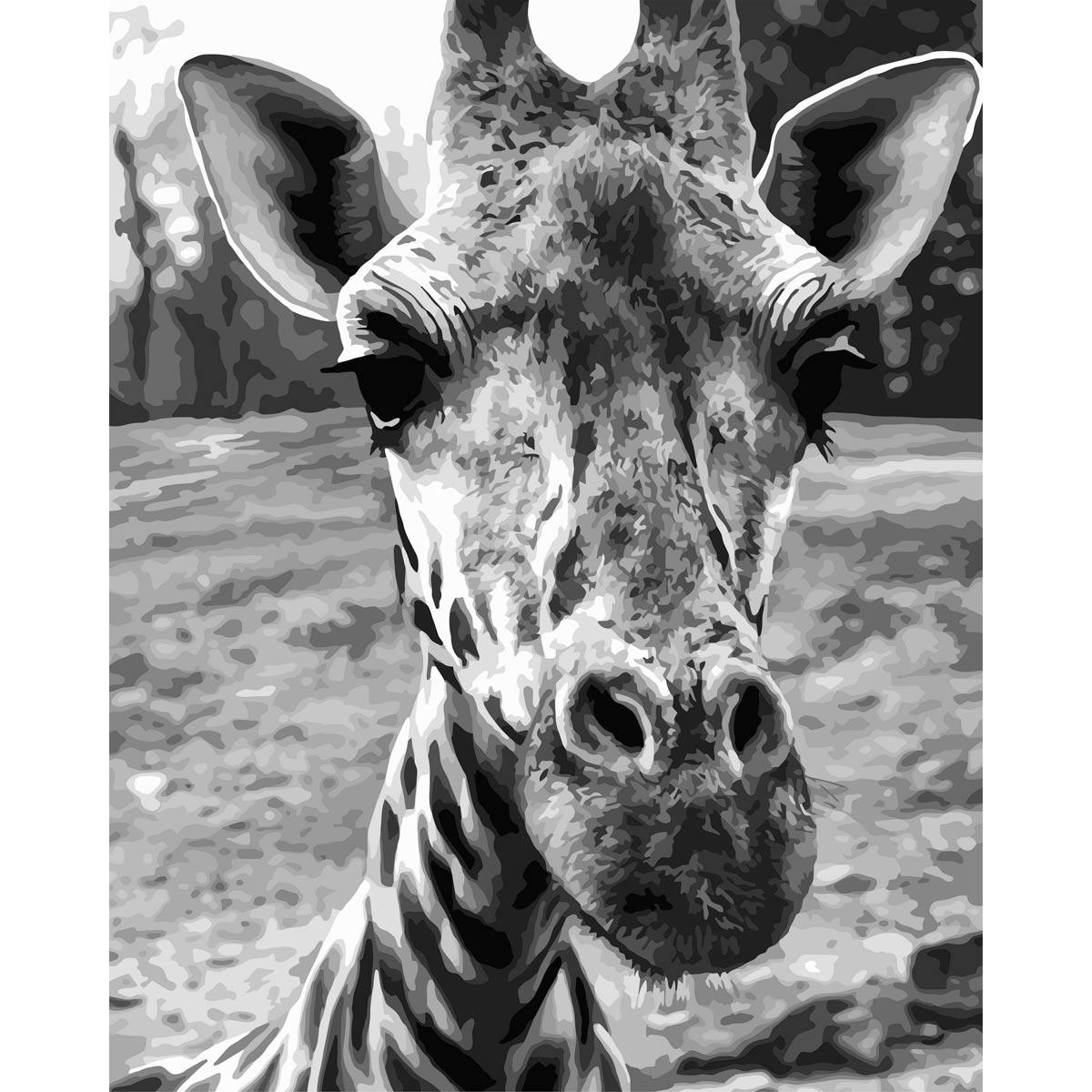 F010 Набор для рисования по номерам 'Любопытный жираф' 40*50см