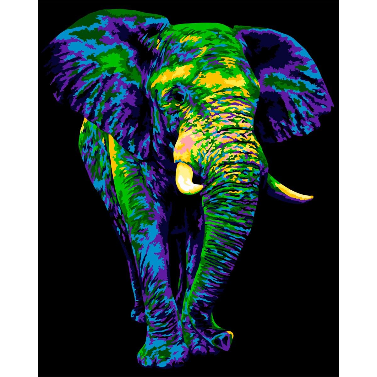 H135 Набор для рисования по номерам 'Таинственный слон ' 40*50см