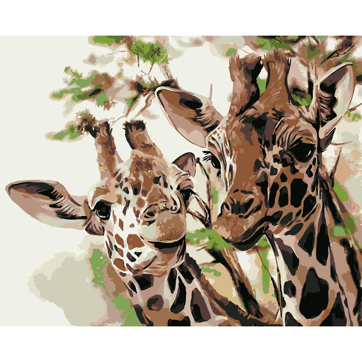 HS0460 Набор для рисования по номерам 'Два жирафа' 40*50см