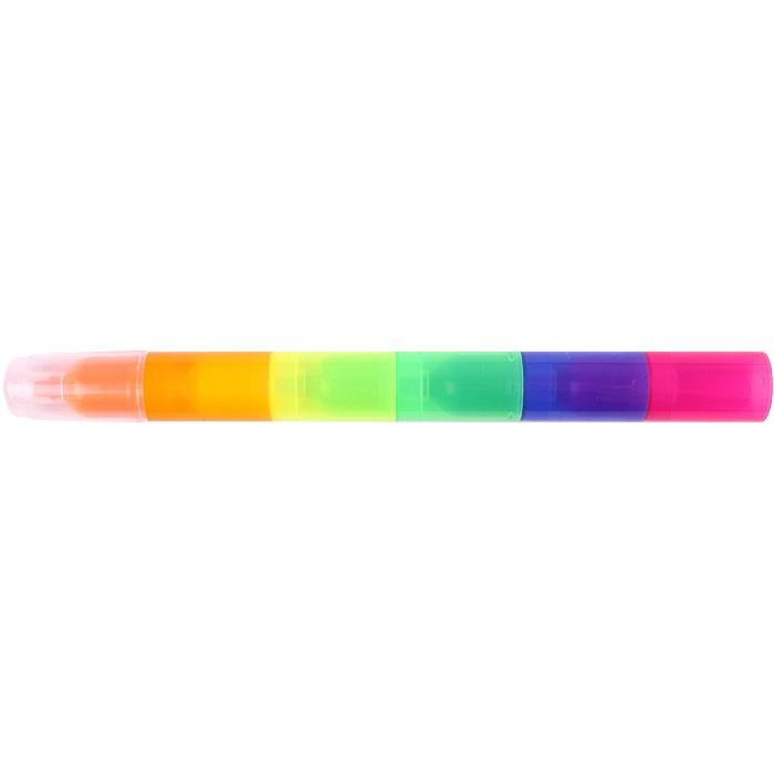 DV-10982 Текстмаркер 5 в 1 (розовый,синий,зелёный, жёлтый,оранжевый)