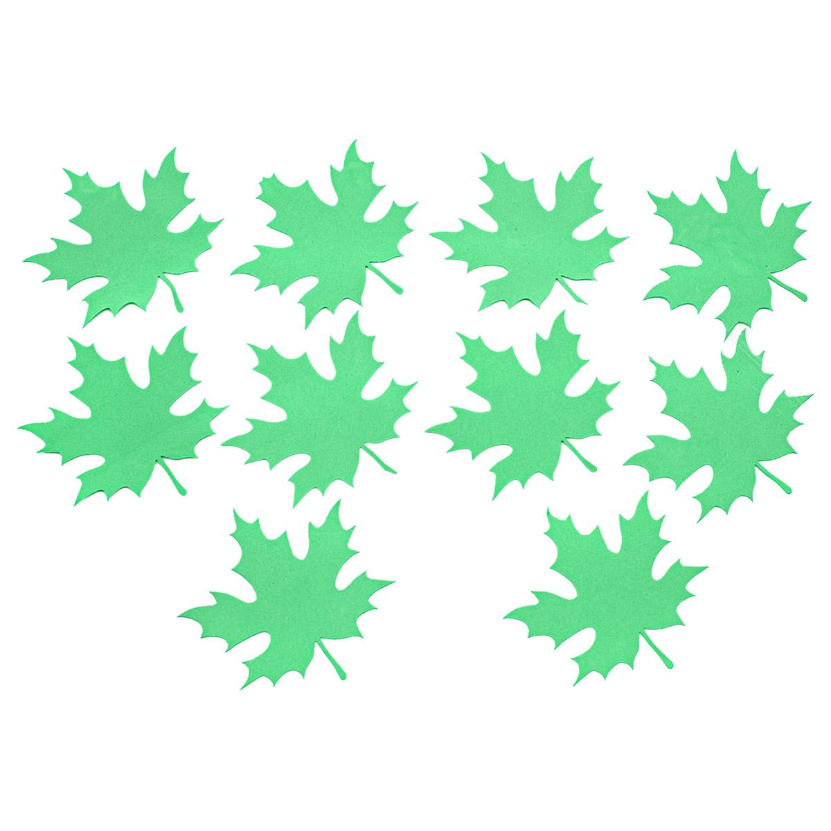 фом28-2-3 Заготовка из фоамирана 'Лист клена', 10х10см,10шт, зеленый
