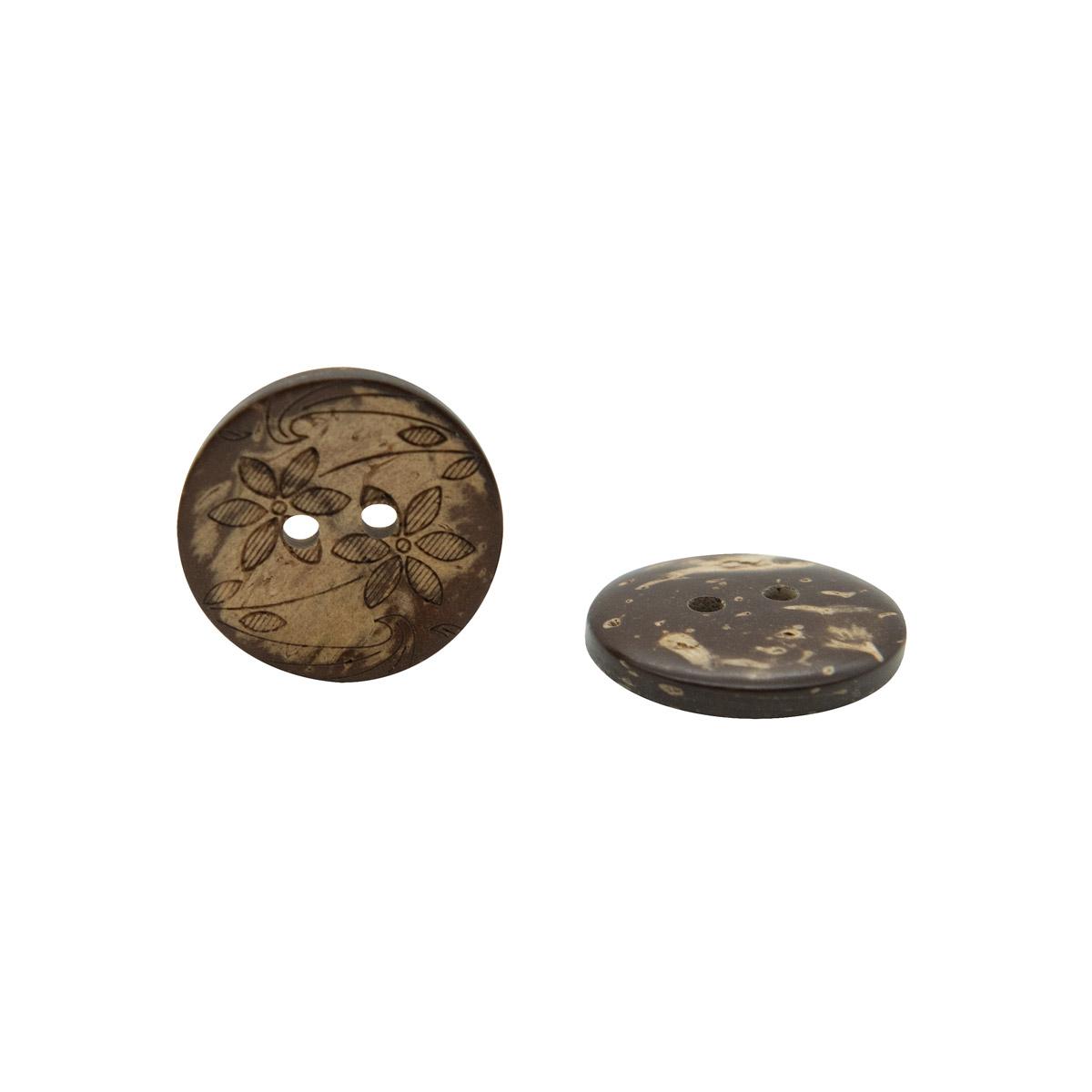 KO03 Пуговица кокос 32L (20мм) 2пр.