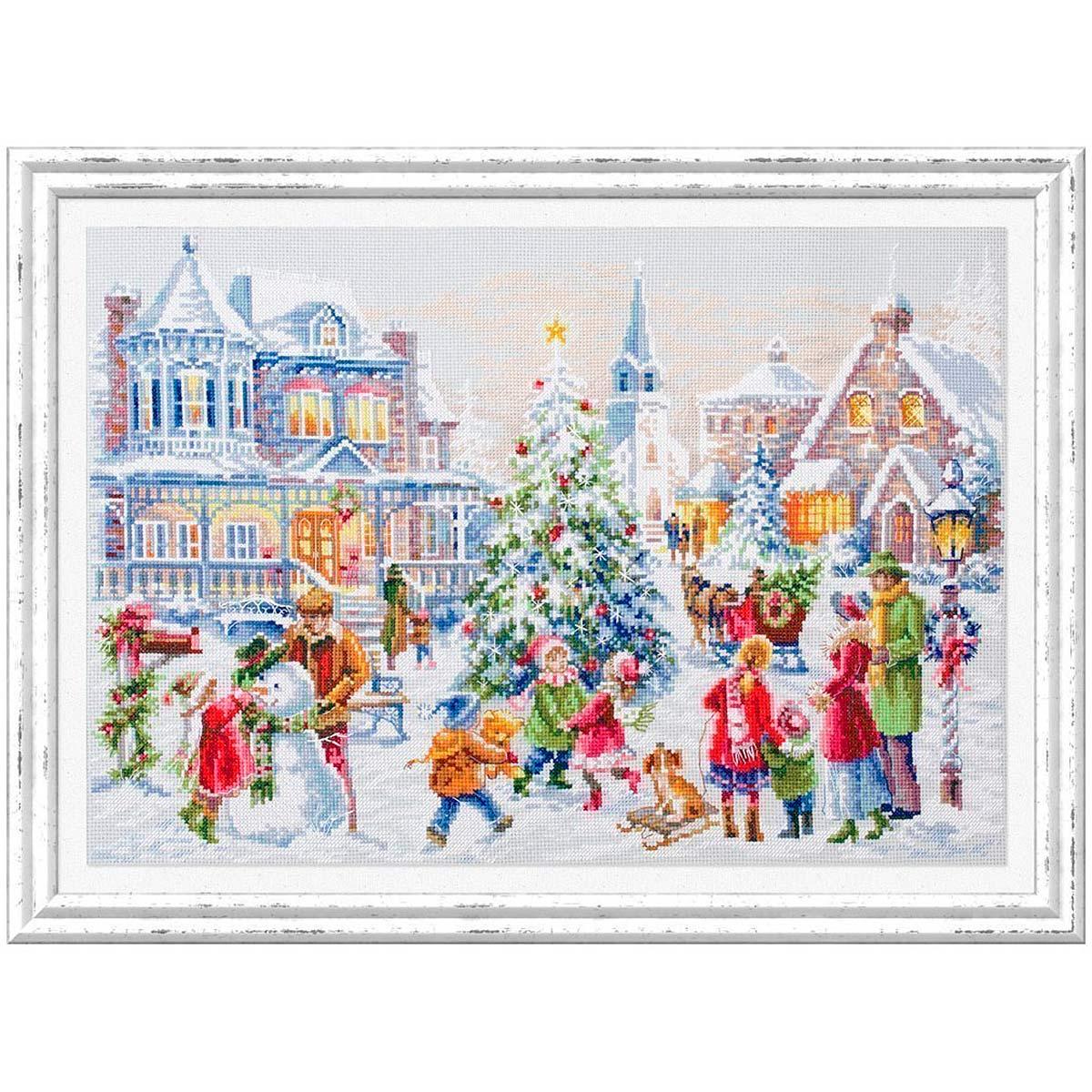 100-250 Набор для вышивания Чудесная игла 'Накануне Рождества'46х31см