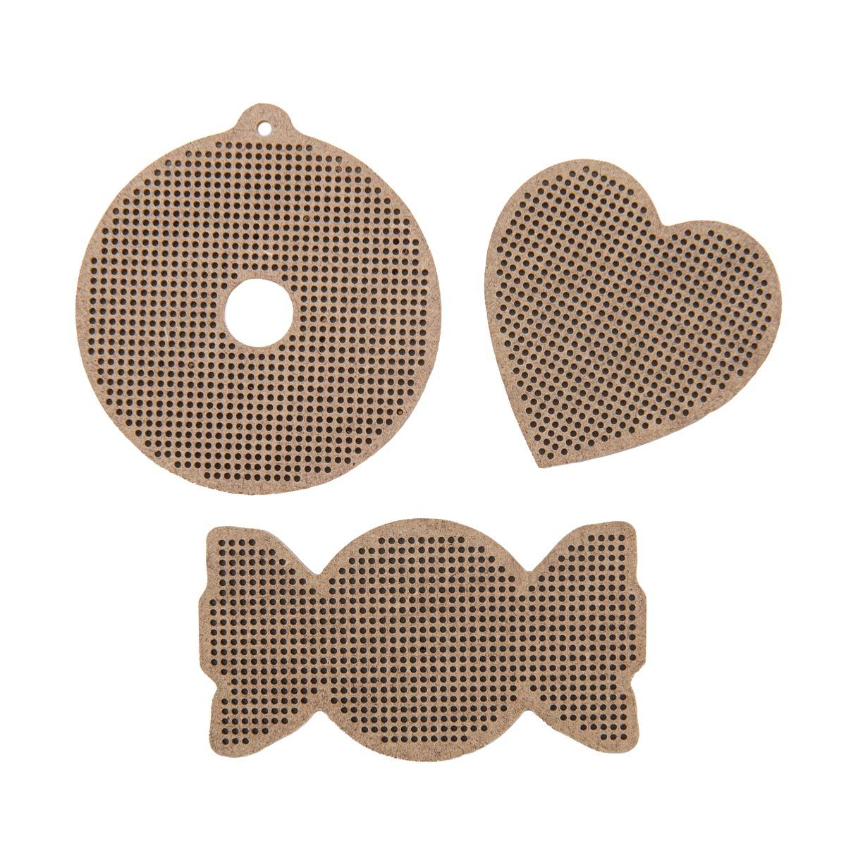 Н054452 Комплект основ для вышивания 'Сладости' (пончик,