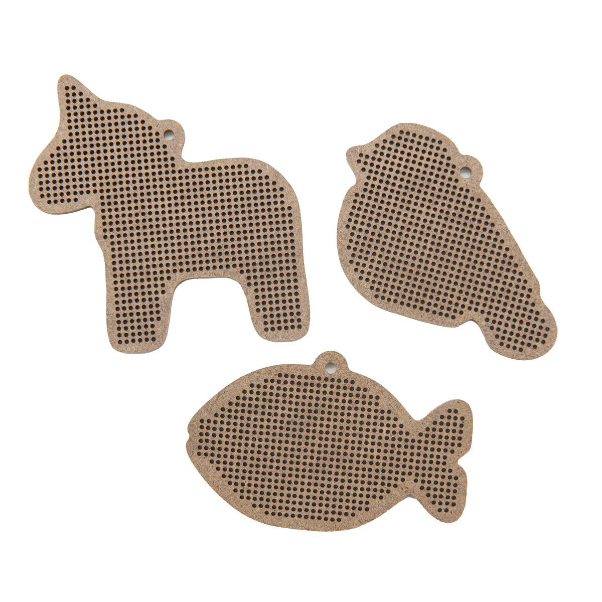 Н282945 Комплект основ для вышивания 'Прянички' (рыбка,